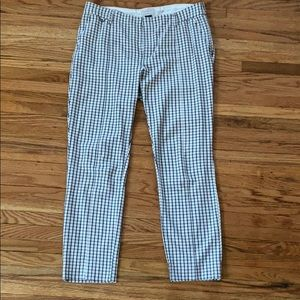 Anthropologie The Essential Slim Trouser Checkered